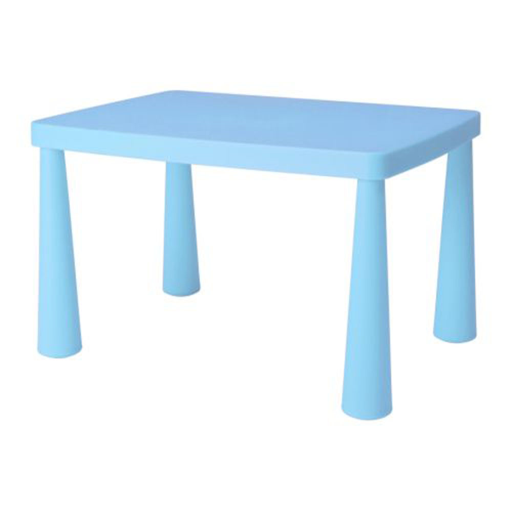 Children's Blue Rectangular Table