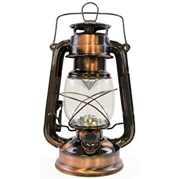 Copper LED Hurricane Lantern