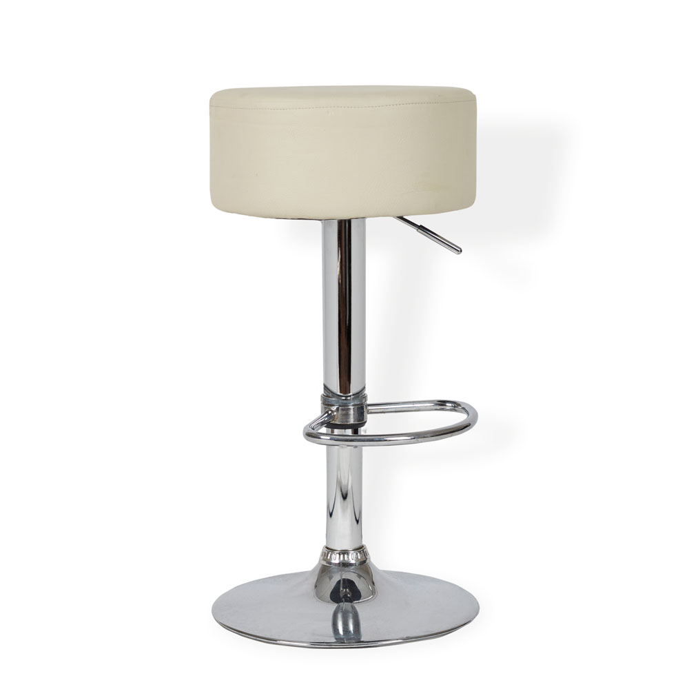 Cream Button Bar Stool