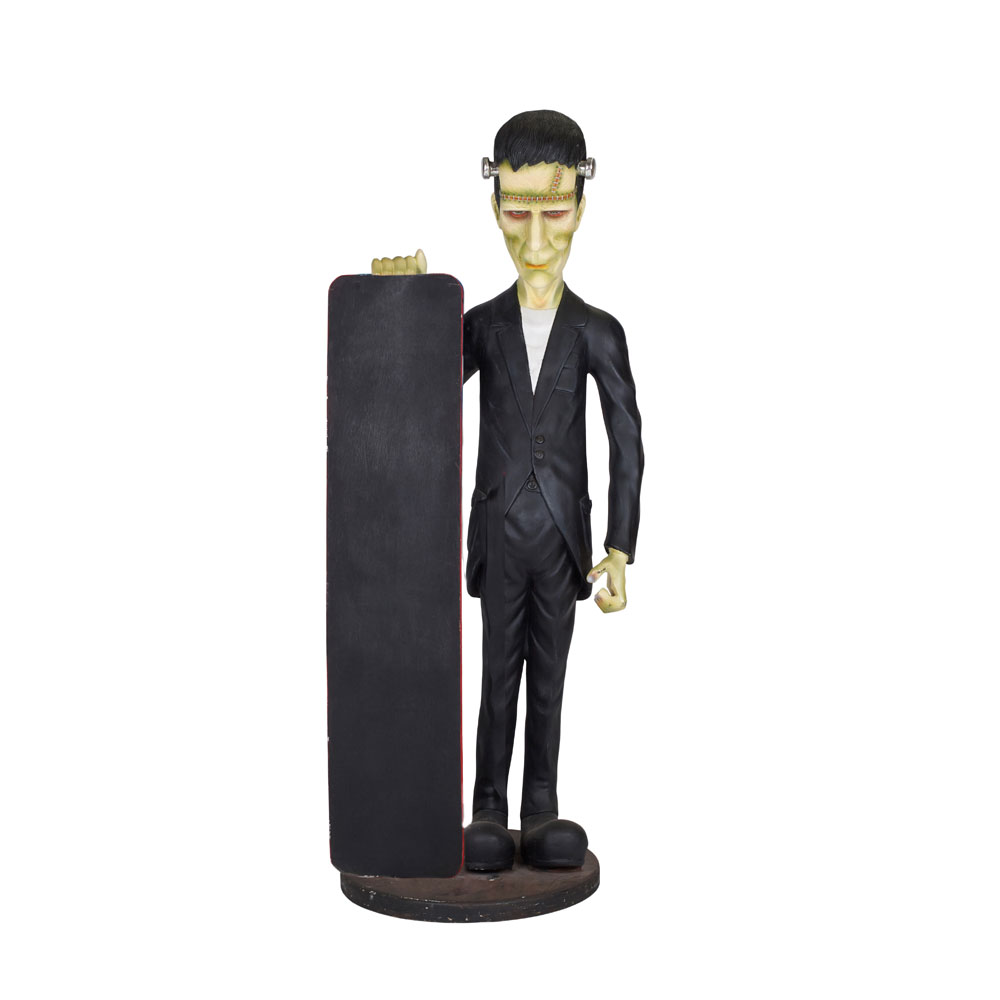 Frankenstein Life Size Figure with Notice Board