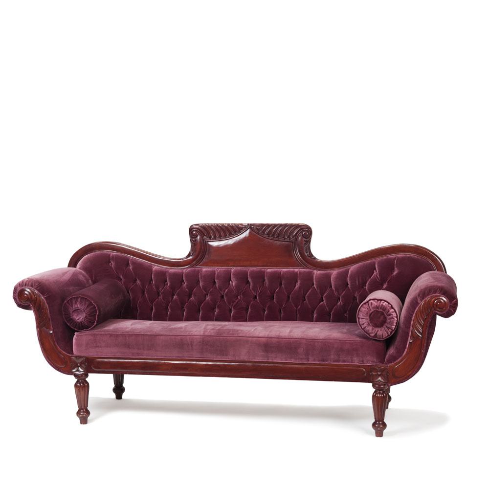 Georgian Scroll End Sofa