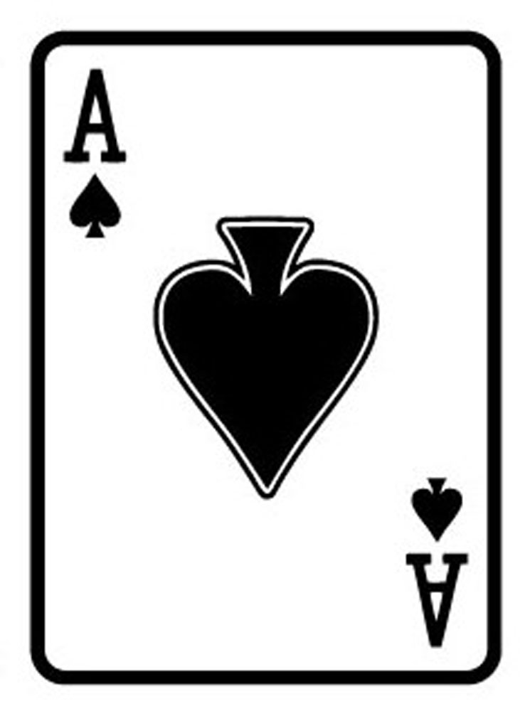 Giant Playing Card 1.8m - Ace of Spades
