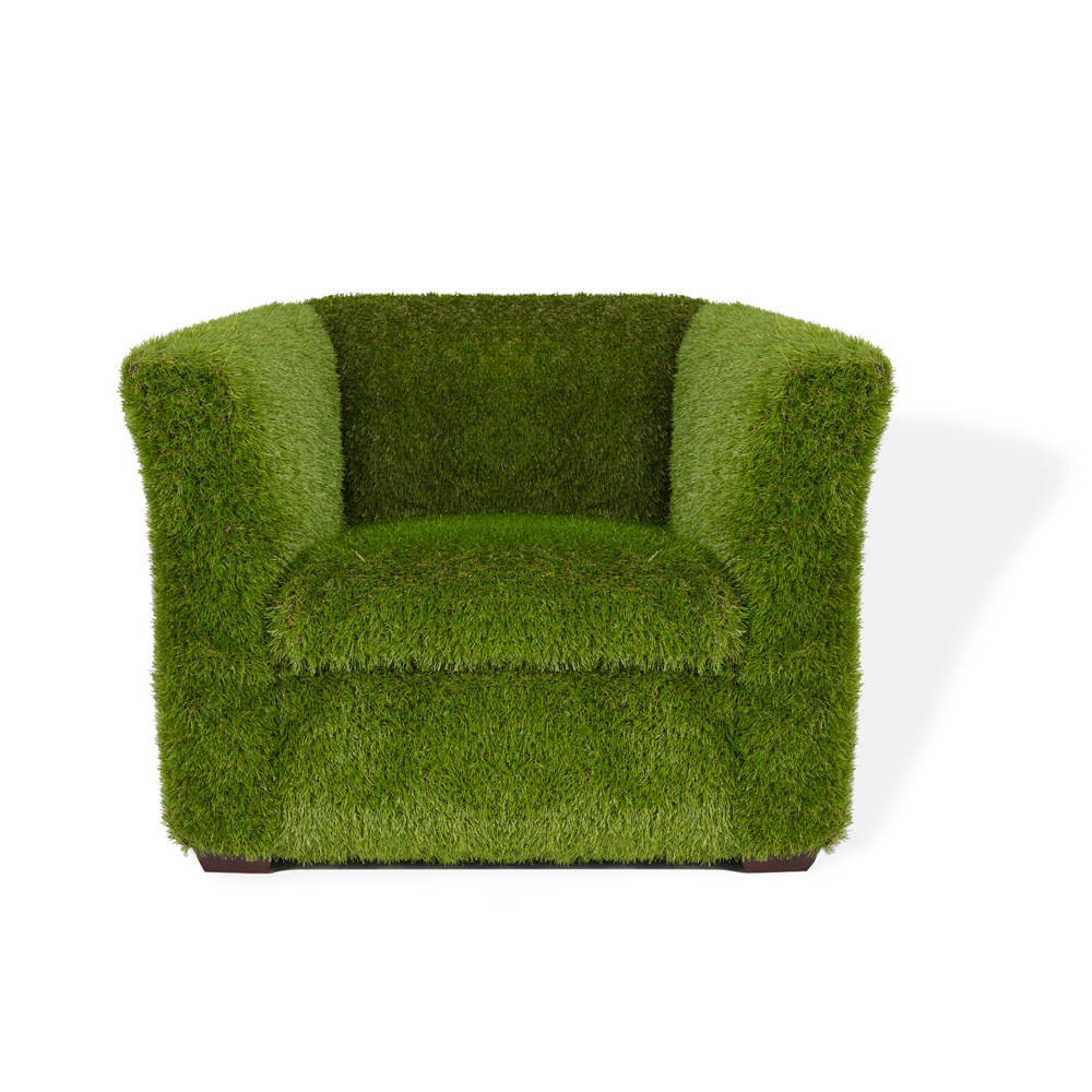 Grass Covered Sorrento Armchair