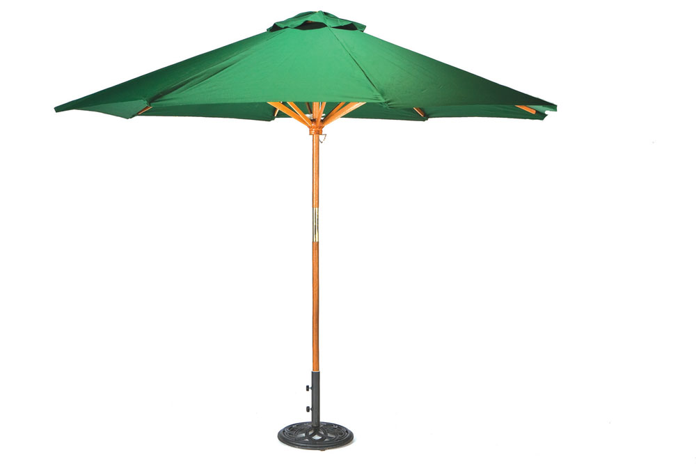 Green Parasol with Base