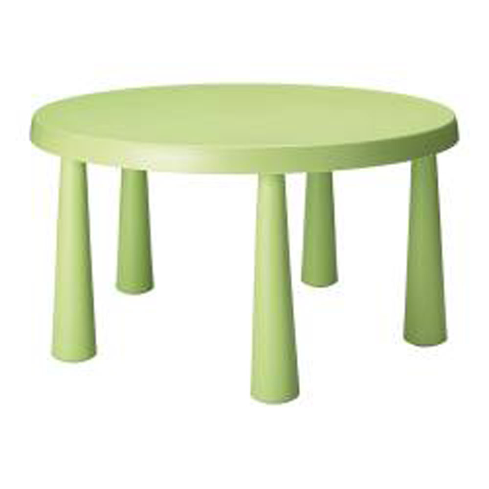 Childrenu0027s Lime Green Round Table