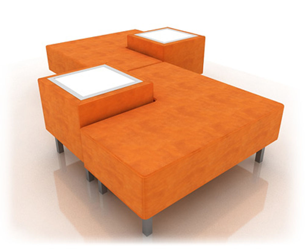 Orange Soho Combo 2 Sofa