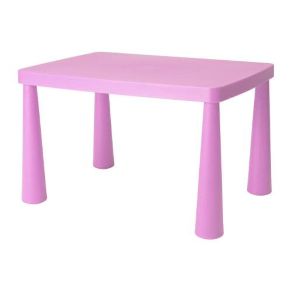 Children's Pink Rectangular Table