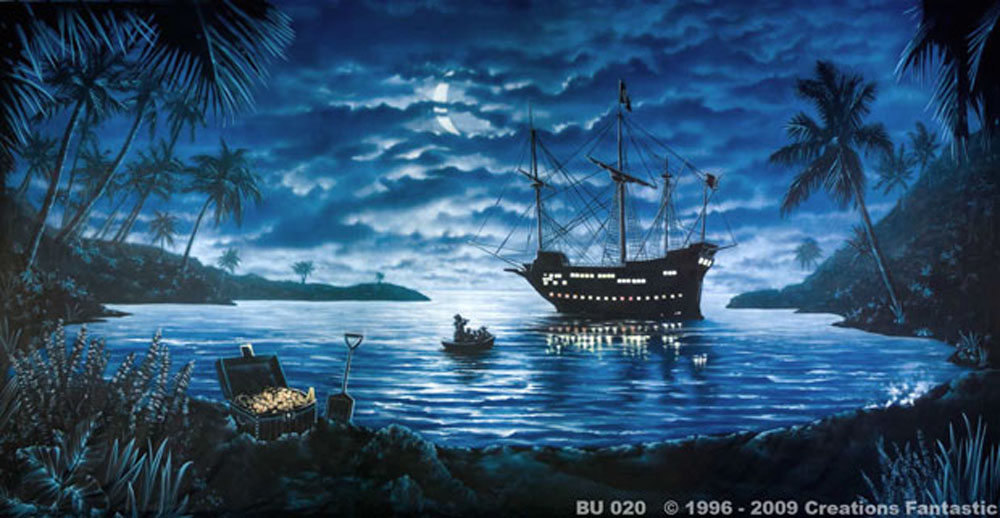 Pirate Cove with Ship Backdrop
