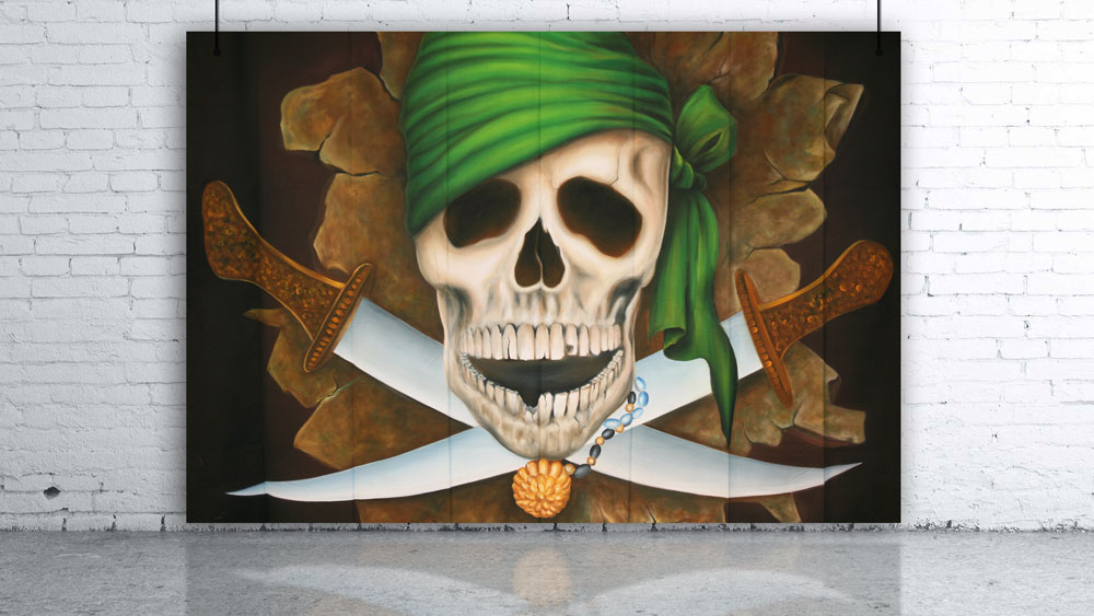 Pirate Skull Jolly Roger Backdrop