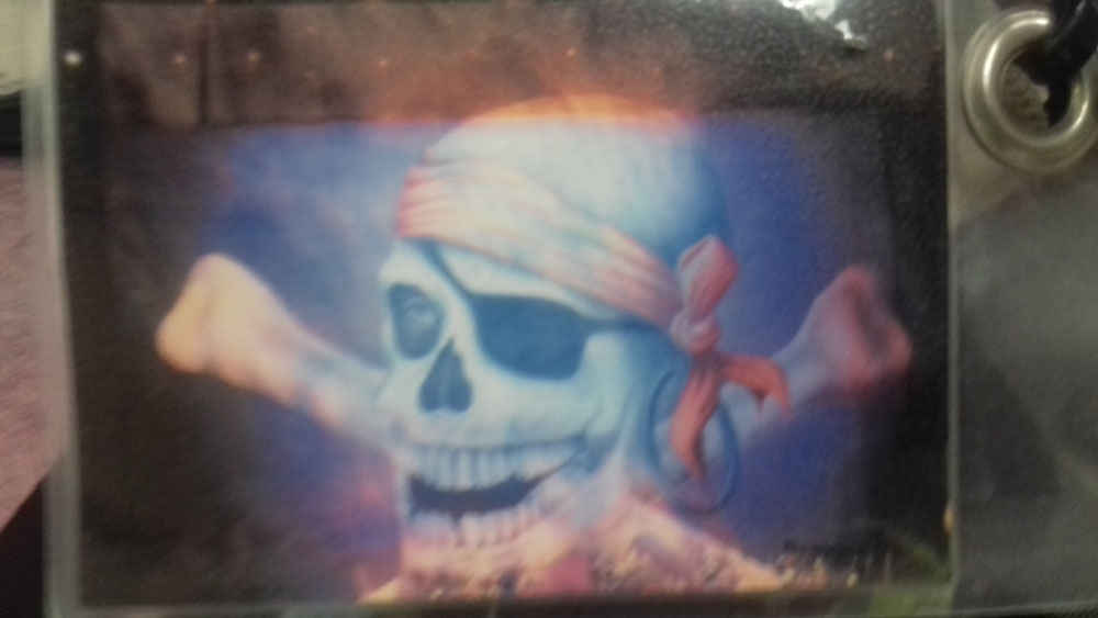 Pirate Skull with Eye Patch Backdrop