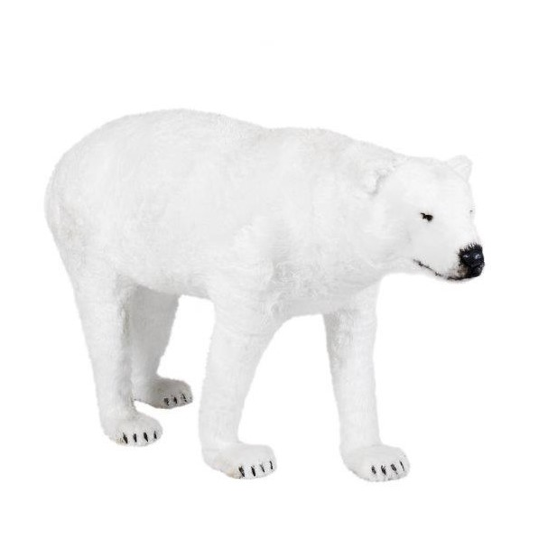 Life-Size Fluffy Polar Bear