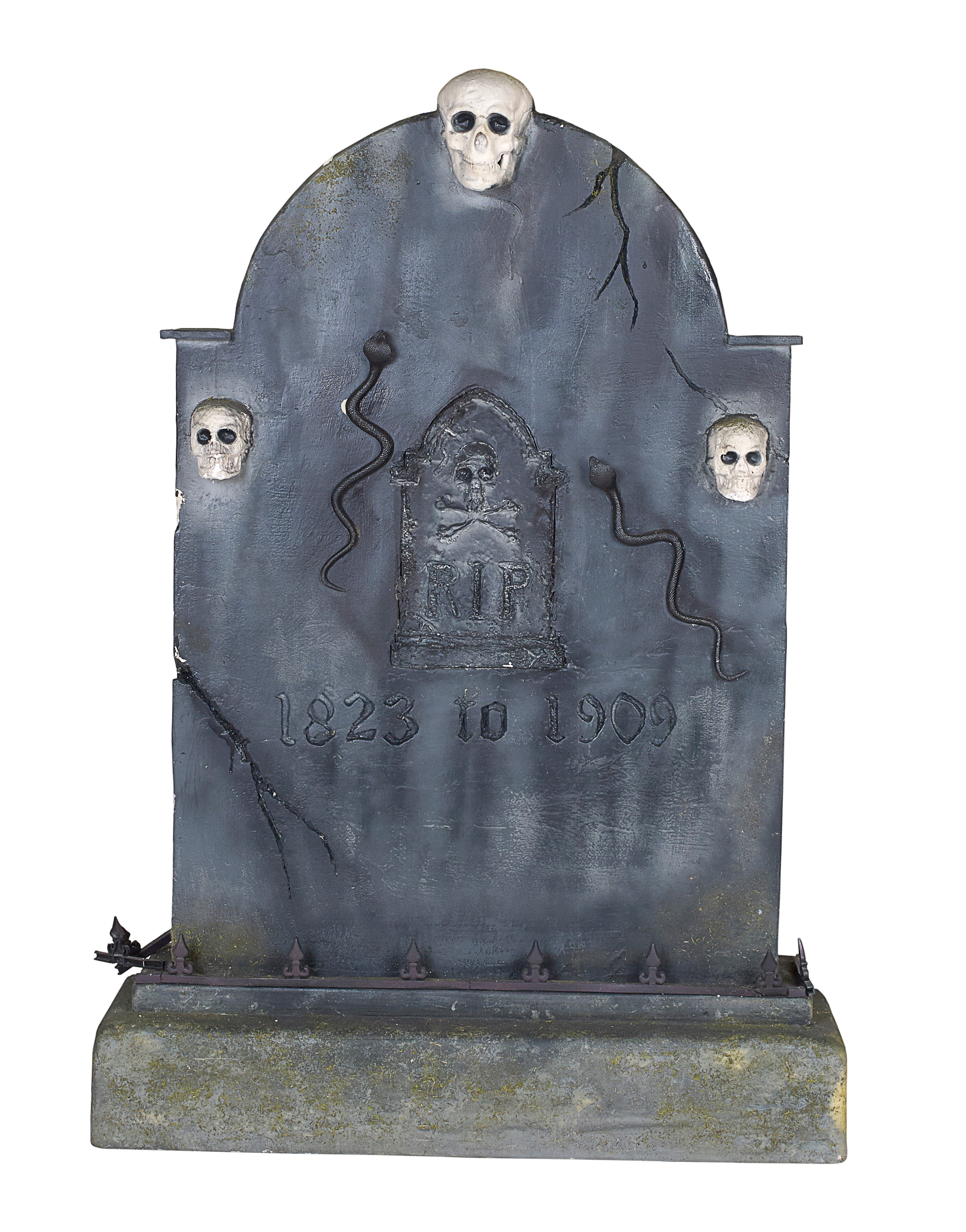 Tombstone with Three Skulls