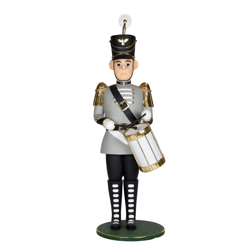 Life-Size Grey Toy Drummer 2.1m