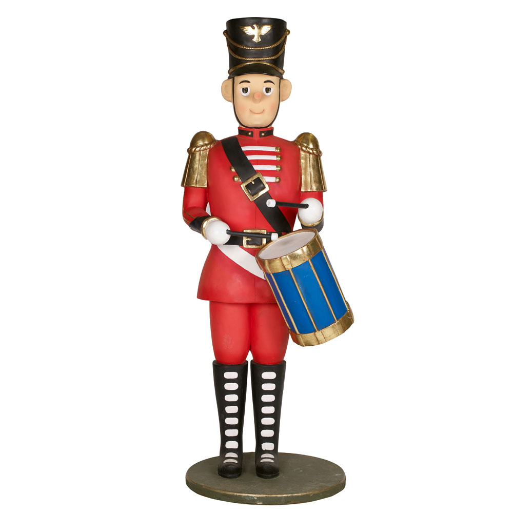 Life-Size Red Toy Drummer 2.1m
