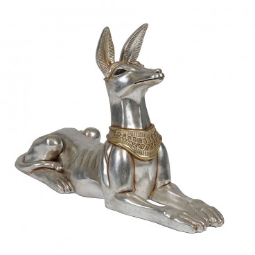 Silver Anubis Lying Down 520mm