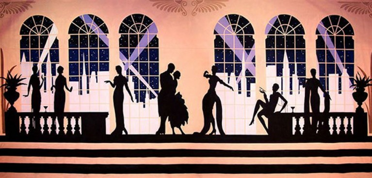 Art Deco Gala Backdrop 5m x 9m