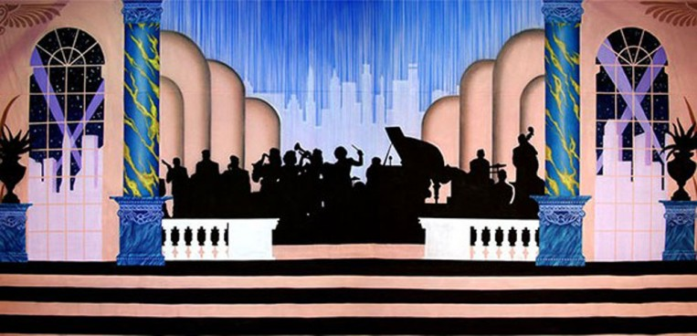 Art Deco Gala Band Backdrop 5m x 9m