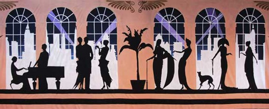 Art Deco Gala Piano Backdrop 5m x 9m