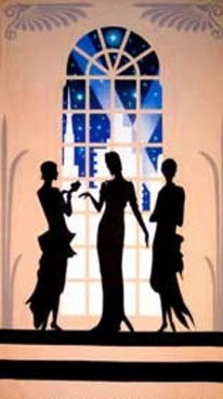 Art Deco 3 Ladies Backdrop 5m x 3m