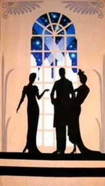 Art Deco 2 Ladies & Man Backdrop