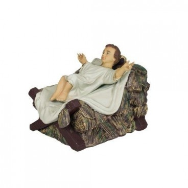 Life-Size Baby Jesus in Crib 600mm