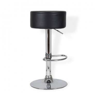 Black Button Bar Stool