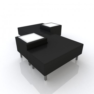 Black Soho Combo 2 Sofa