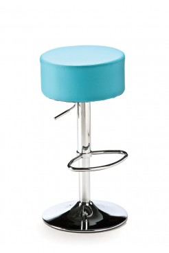 Blue Button Bar Stool