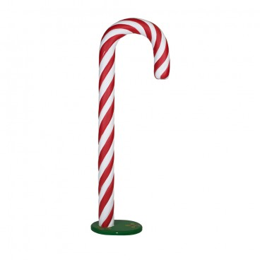 Giant Skinny Candy Cane on Stand 1.9m