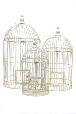 Cream Bird Cage (medium)