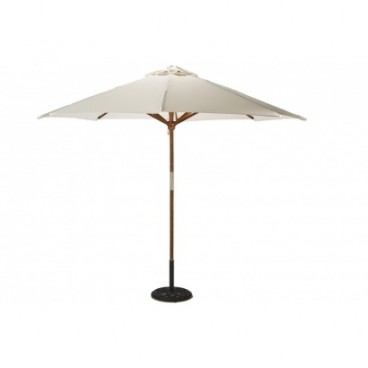 Cream Parasol with Base