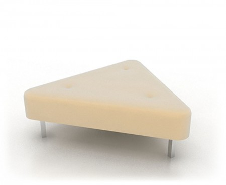 Cream Triangle Ottoman