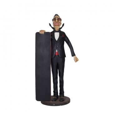 Dracula Life Size Figure with Notice Board