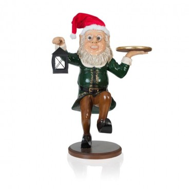 Elf Waiter with Lamp 940mm