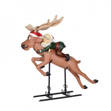 Elf on Flying Reindeer