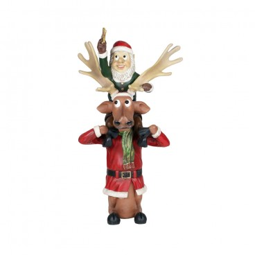 Elf on Reindeers Shoulders 1.5m