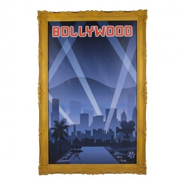Giant Bollywood Print in Frame 2.5m