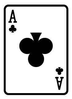 Giant Playing Card 1.8m - Ace of Clubs