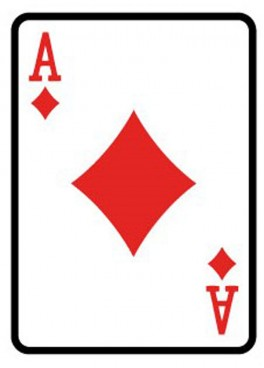 Giant Playing Card 1.8m - Ace of Diamonds