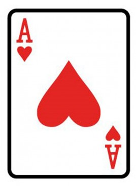 Giant Playing Card 1.5m - Ace of Hearts