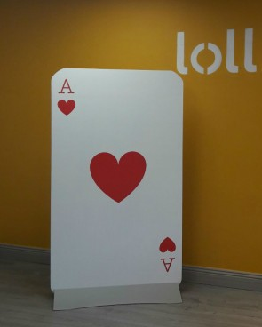 Giant Playing Card 1.8m - Ace of Hearts
