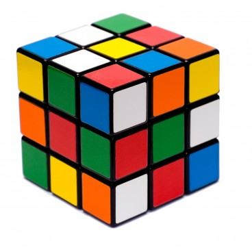 Giant Rubik's Cube with Mixed Sides