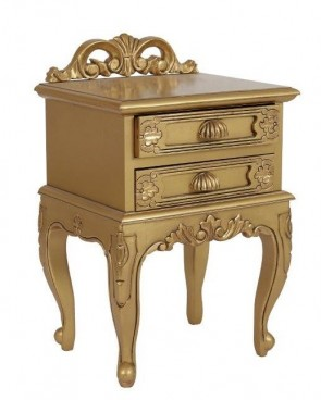 Gold Locker Table with Drawers
