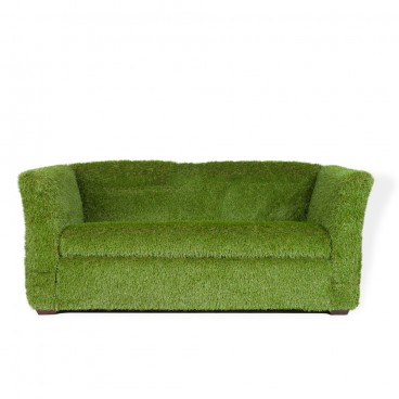 Grass Covered Sorrento Three Seater Sofa