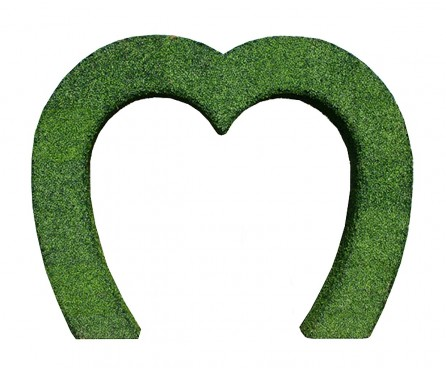 Grass Topiary Heart Archway