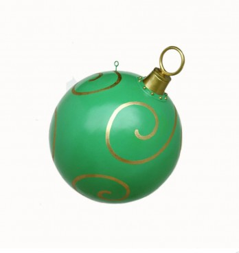 Giant Green & Gold Christmas Bauble 790mm