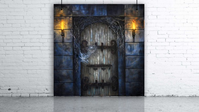 Haunted House Door Backdrop