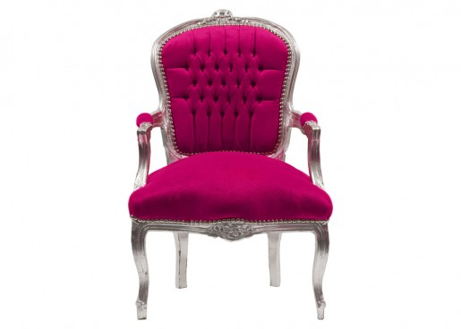 Hot Pink Baroque Chair
