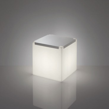 Illuminated Cube with Metal Top