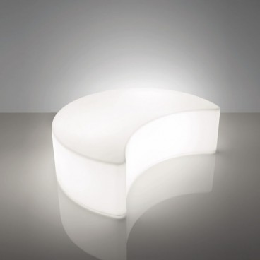 Illuminated Half Moon Bench